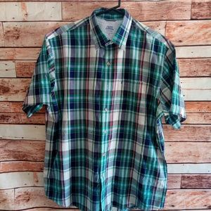 Izod short sleeve button down shirt relaxed